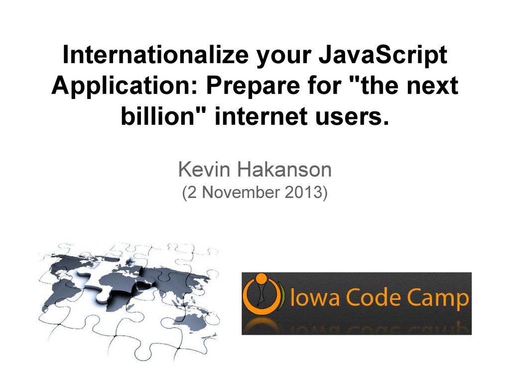 Internationalize your JavaScript Application: P...