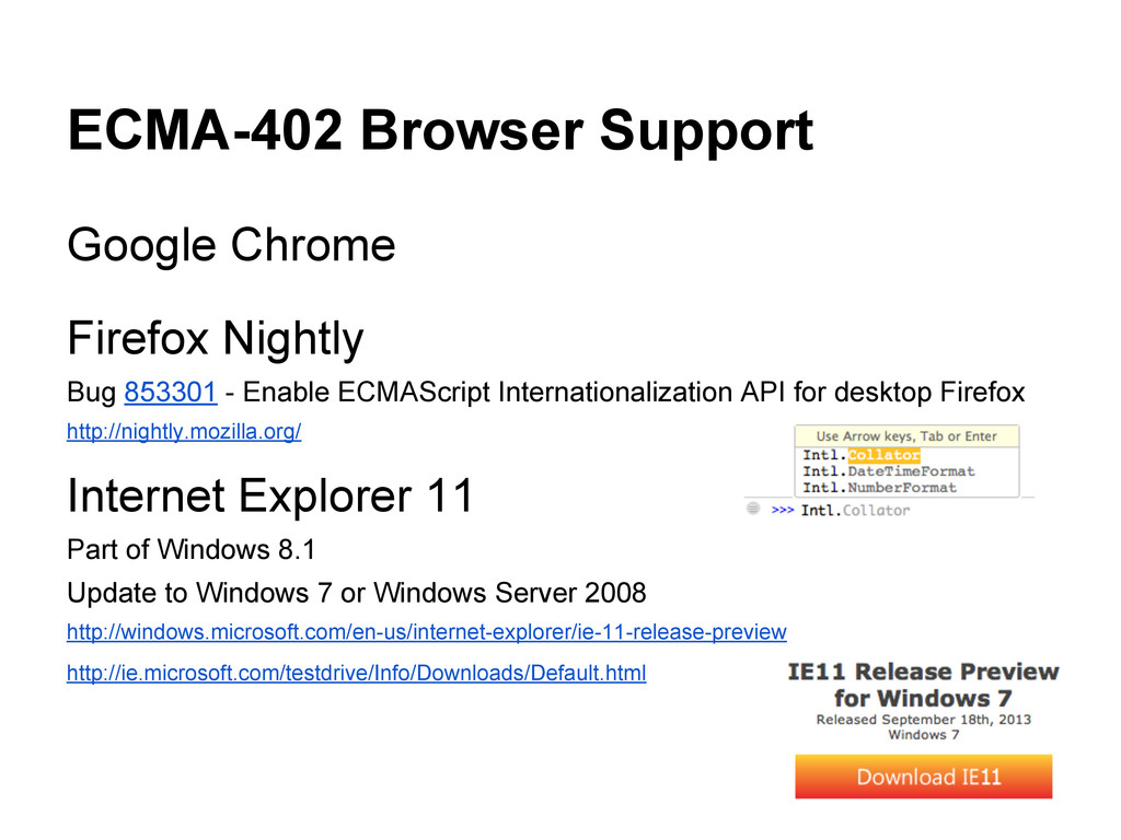 ECMA-402 Browser Support Google Chrome Firefox ...