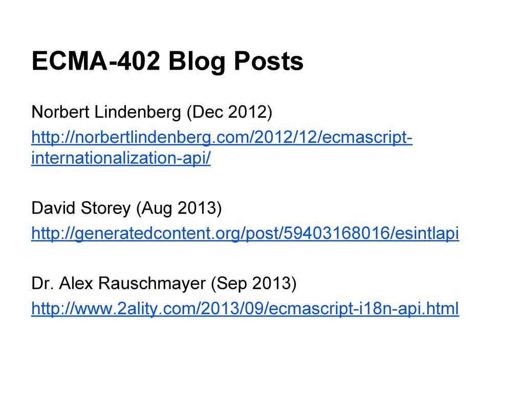 ECMA-402 Blog Posts Norbert Lindenberg (Dec 201...