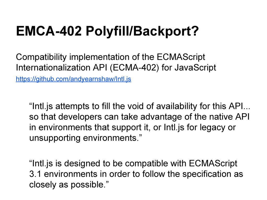 EMCA-402 Polyfill/Backport? Compatibility imple...