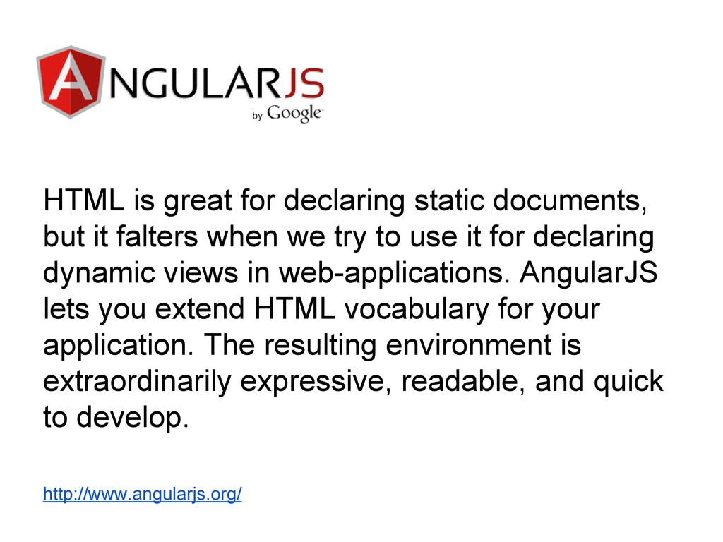 HTML is great for declaring static documents, b...