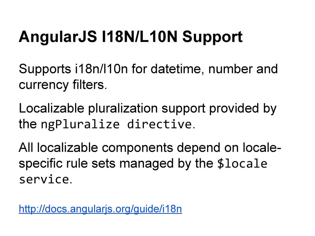 AngularJS I18N/L10N Support Supports i18n/l10n ...