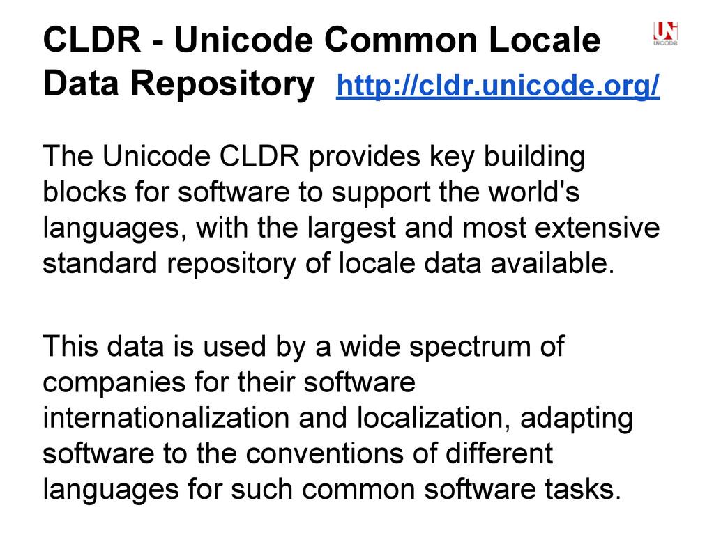 CLDR - Unicode Common Locale Data Repository ht...