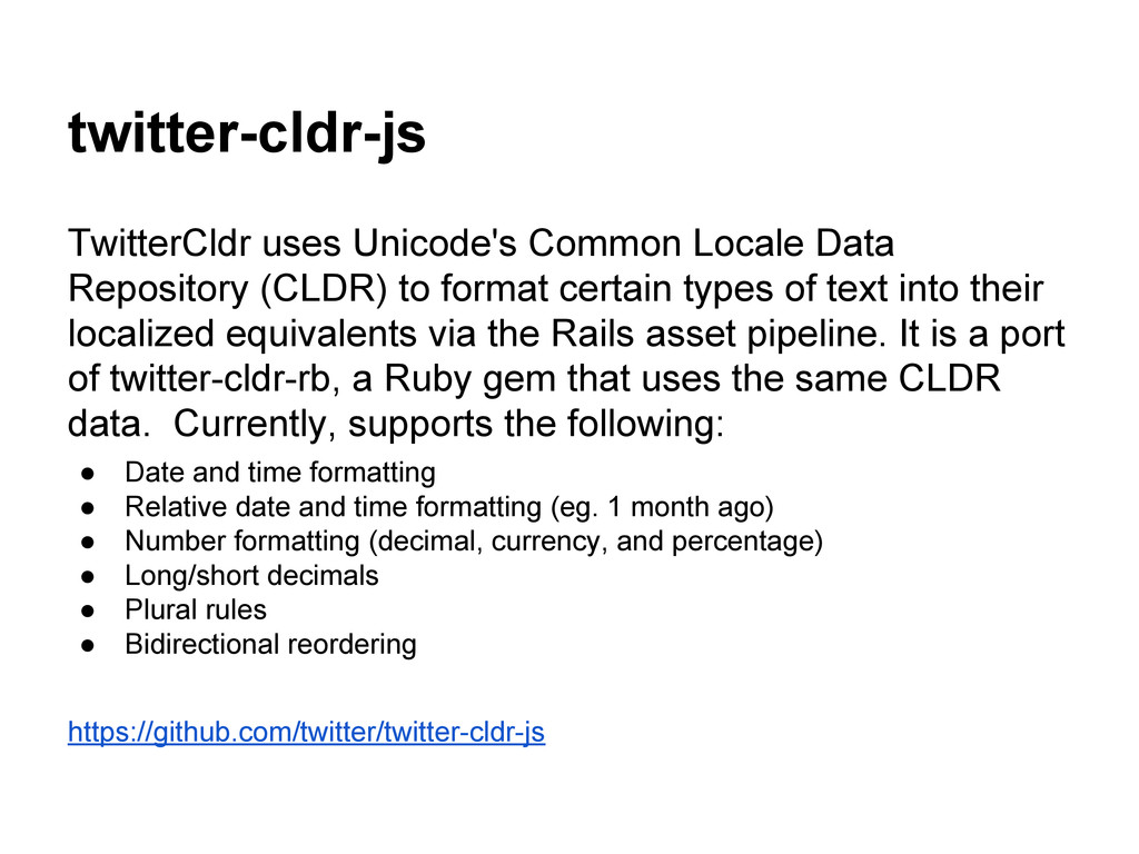 twitter-cldr-js TwitterCldr uses Unicode's Comm...