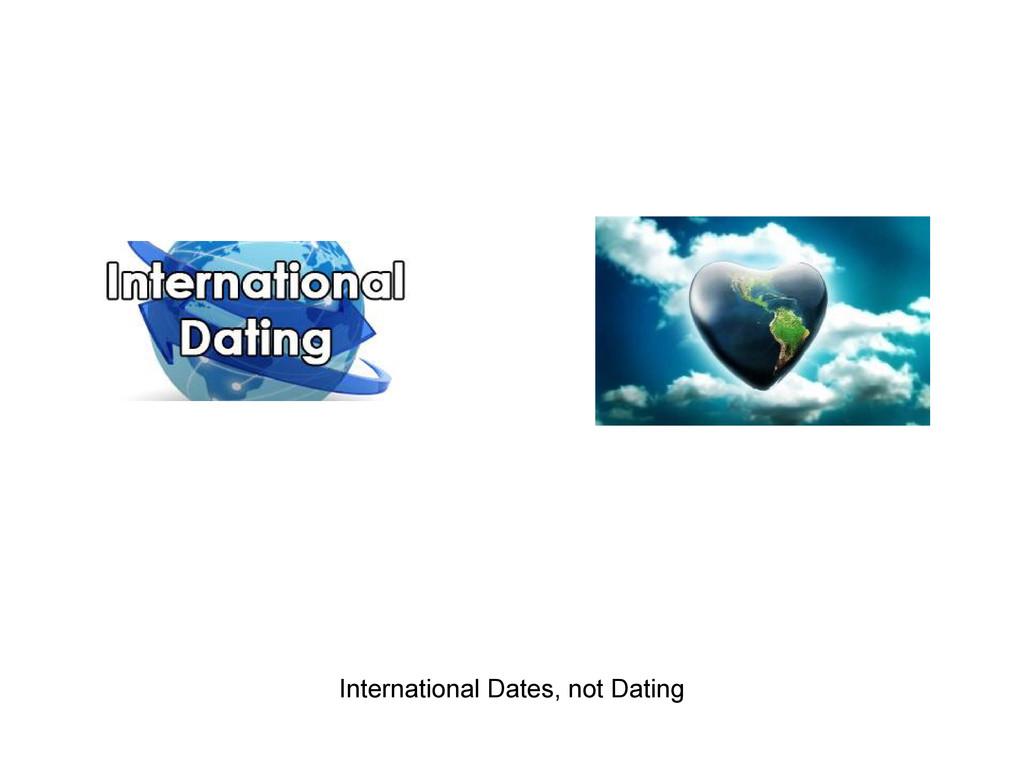 International Dates, not Dating