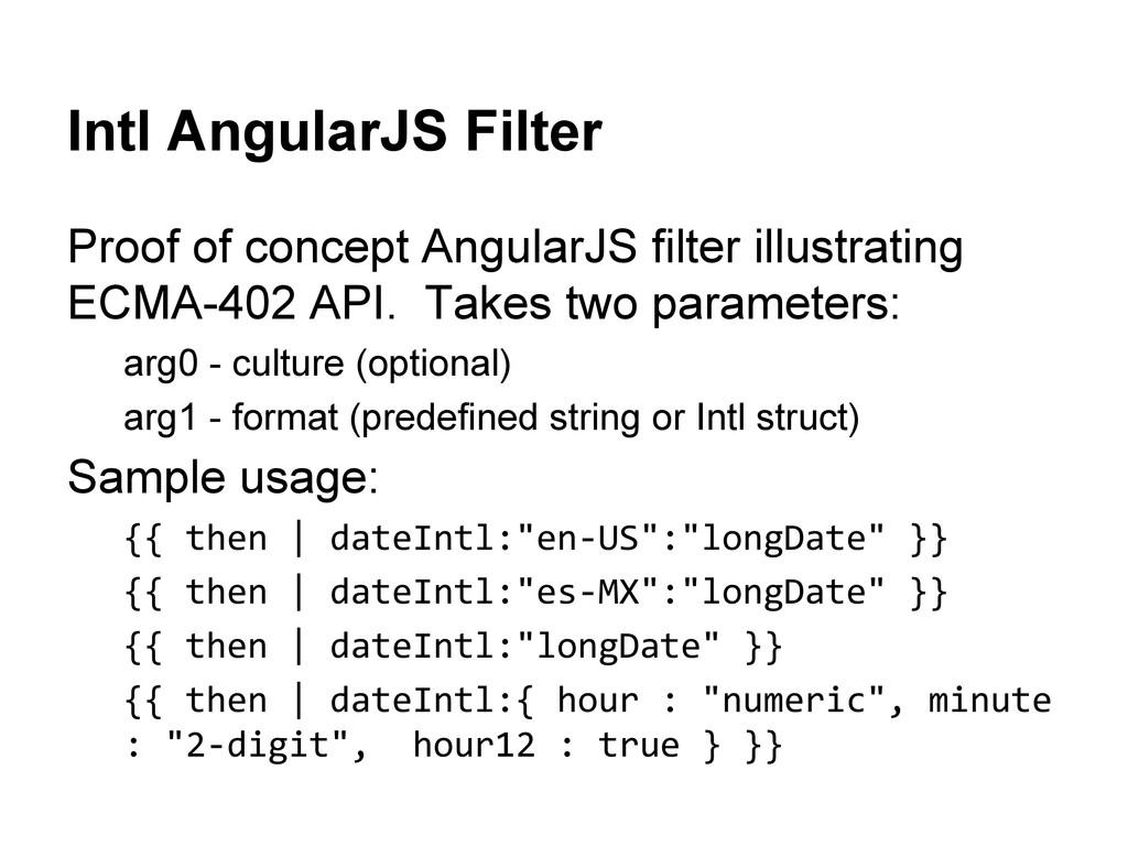 Intl AngularJS Filter Proof of concept AngularJ...