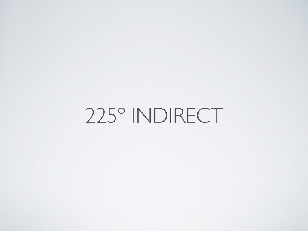 225º INDIRECT