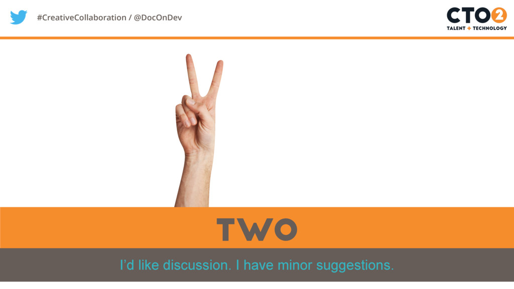 #CreativeCollaboration / @DocOnDev two I'd like...