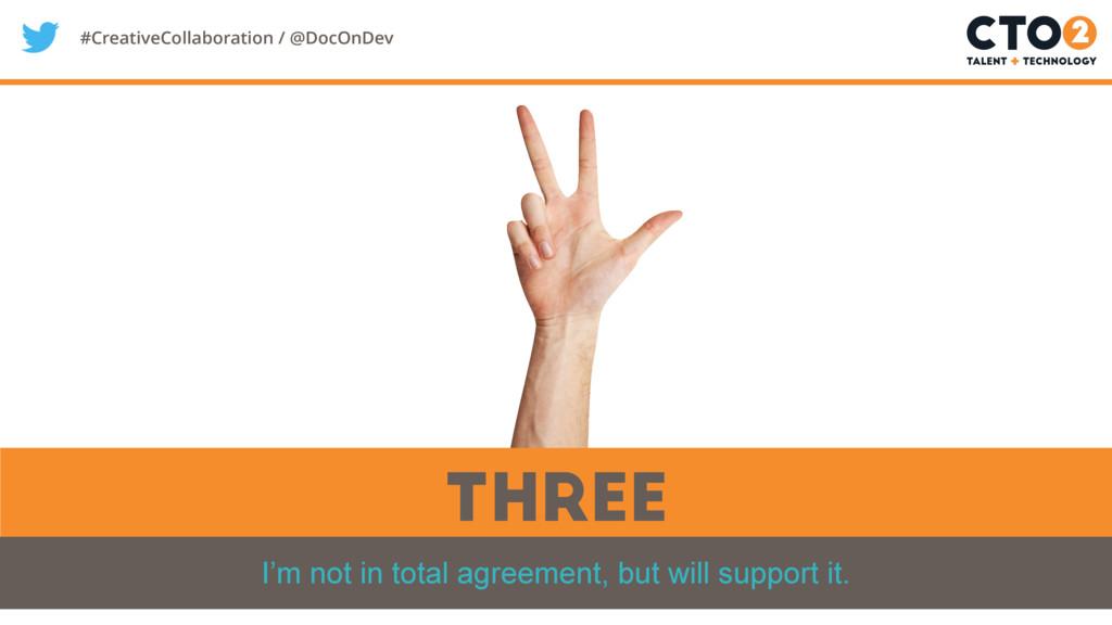 #CreativeCollaboration / @DocOnDev Three I'm no...