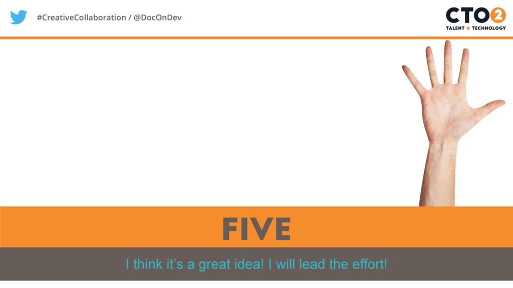 #CreativeCollaboration / @DocOnDev five I think...