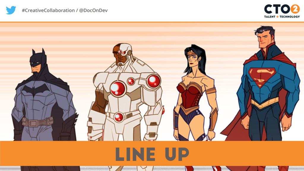 #CreativeCollaboration / @DocOnDev Line Up