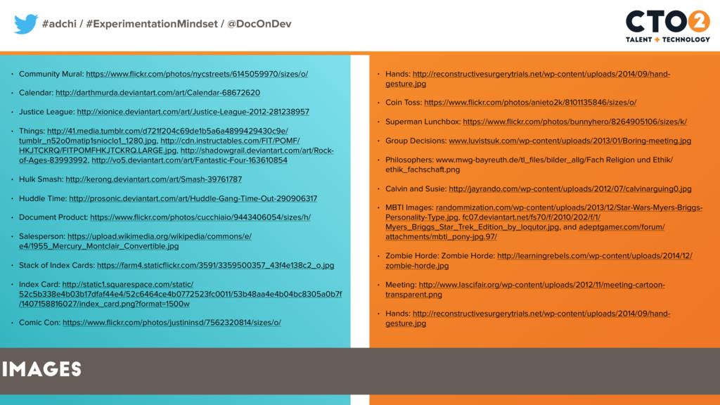 #adchi / #ExperimentationMindset / @DocOnDev • ...