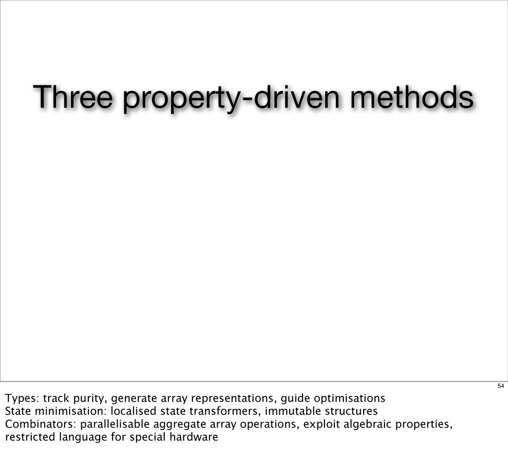 Three property-driven methods 54 Types: track p...