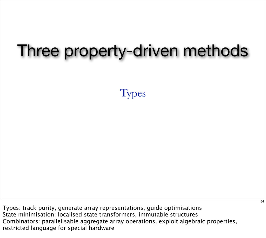 Three property-driven methods Types 54 Types: t...