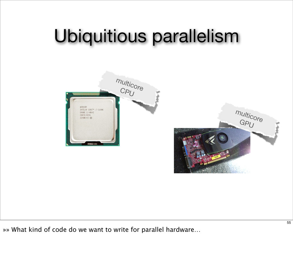multicore GPU multicore CPU Ubiquitious paralle...
