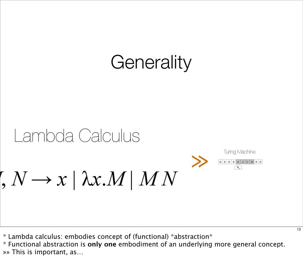 Turing Machine Lambda Calculus M, N → x | λx.M ...