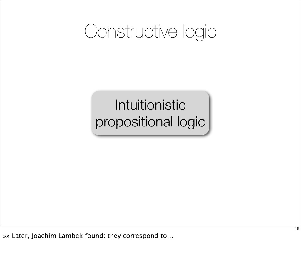 Intuitionistic propositional logic Constructive...