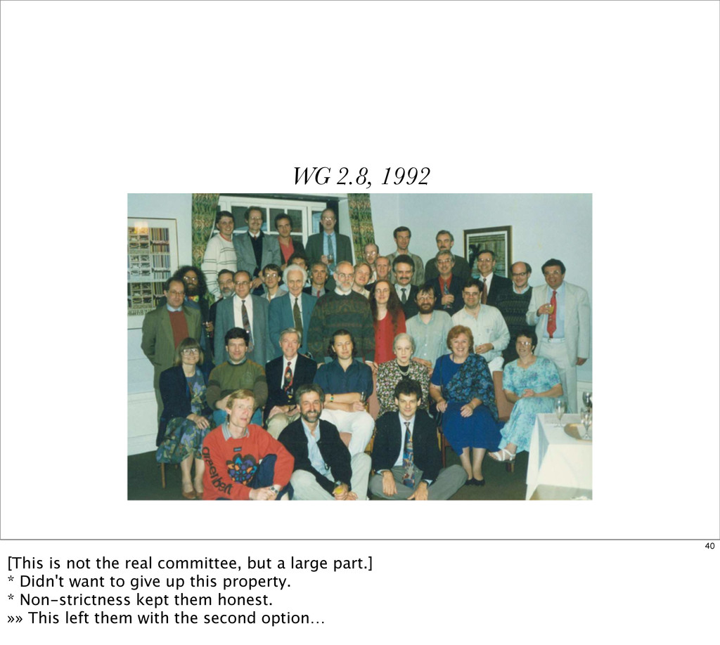 WG 2.8, 1992 40 [This is not the real committee...