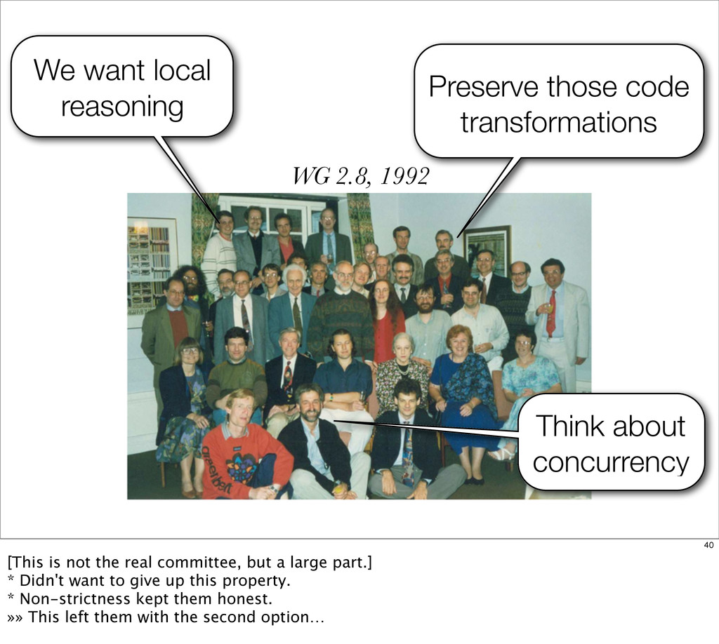WG 2.8, 1992 Preserve those code transformation...