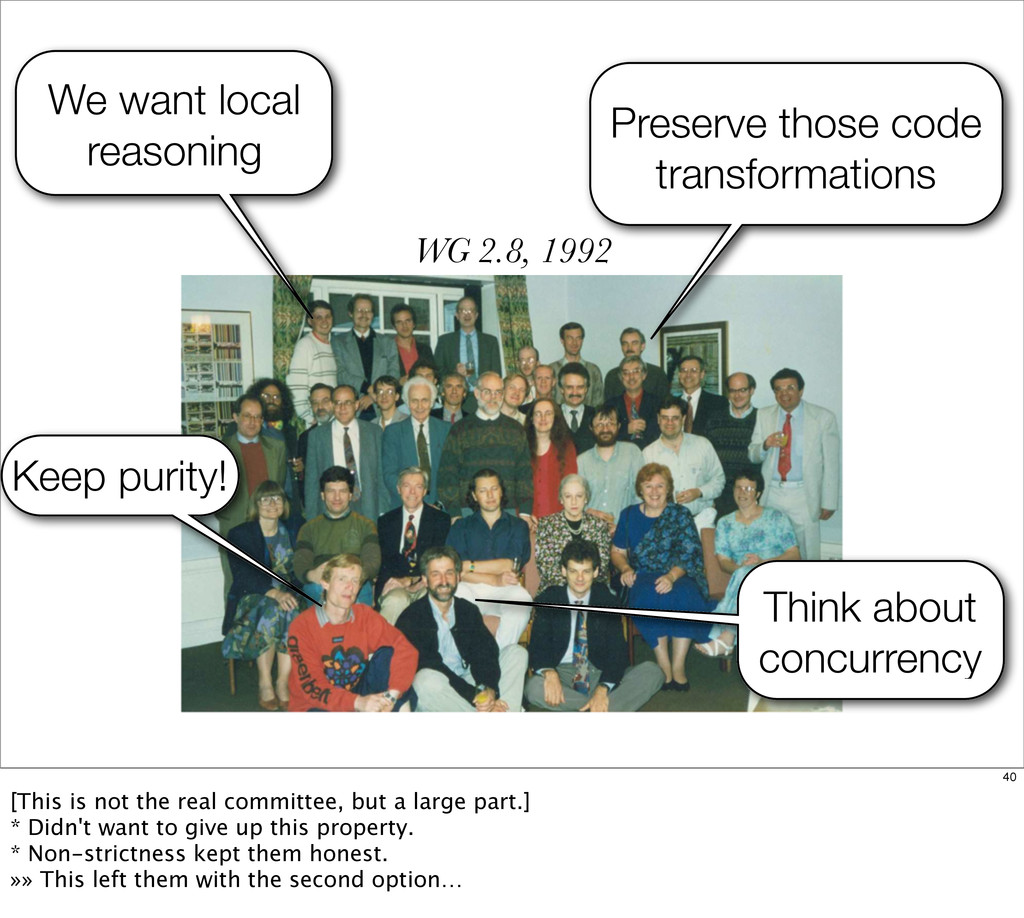 Keep purity! WG 2.8, 1992 Preserve those code t...