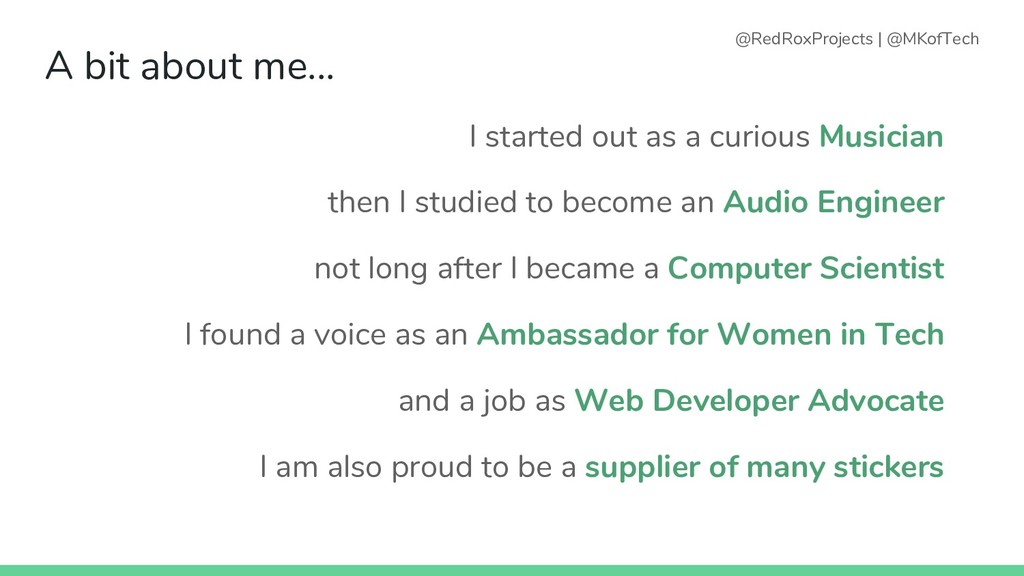 A bit about me... I started out as a curious Mu...
