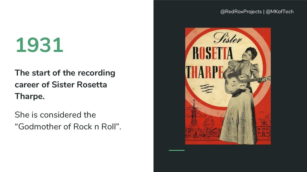 1931 The start of the recording career of Siste...