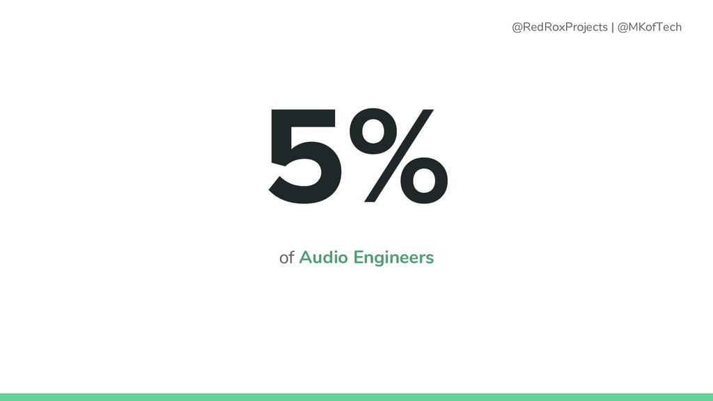 of Audio Engineers @RedRoxProjects   @MKofTech