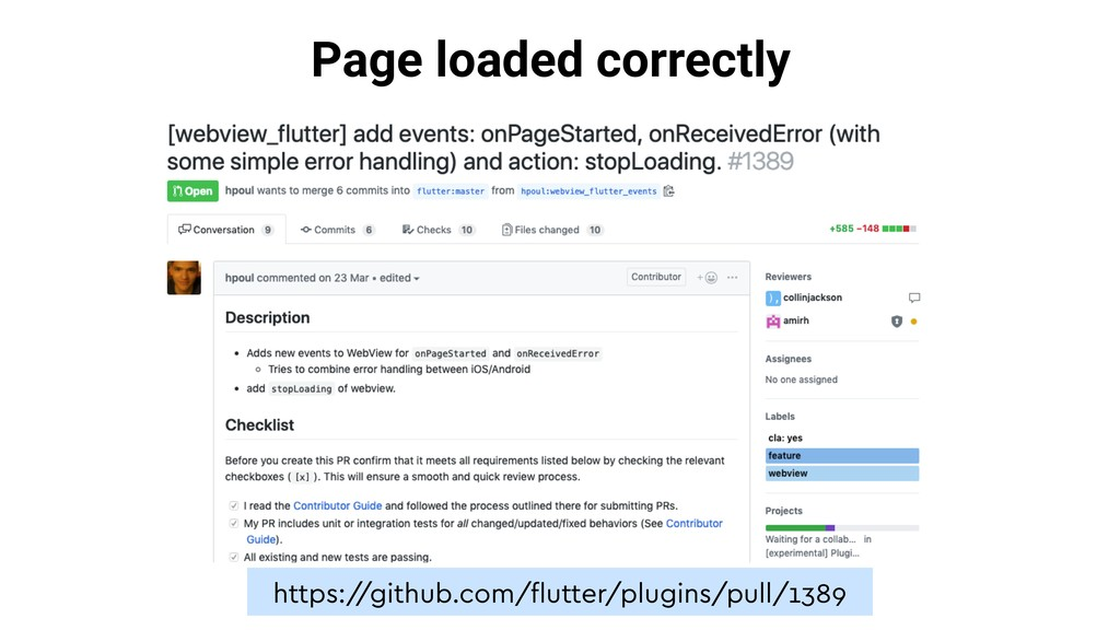 Page loaded correctly https:/ /github.com/flutte...