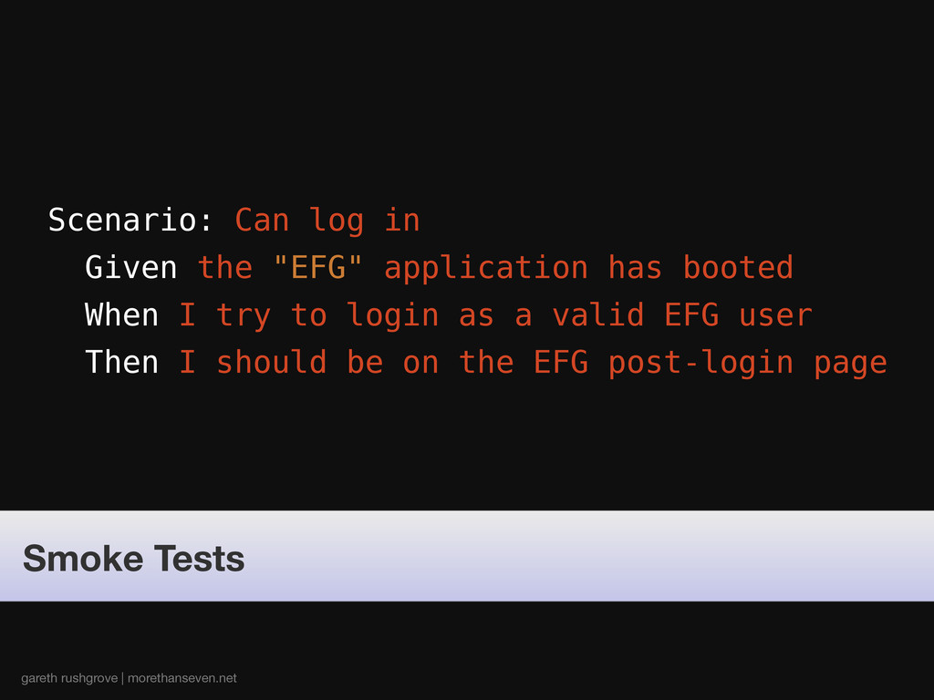 "Scenario: Can log in Given the ""EFG"" applicatio..."