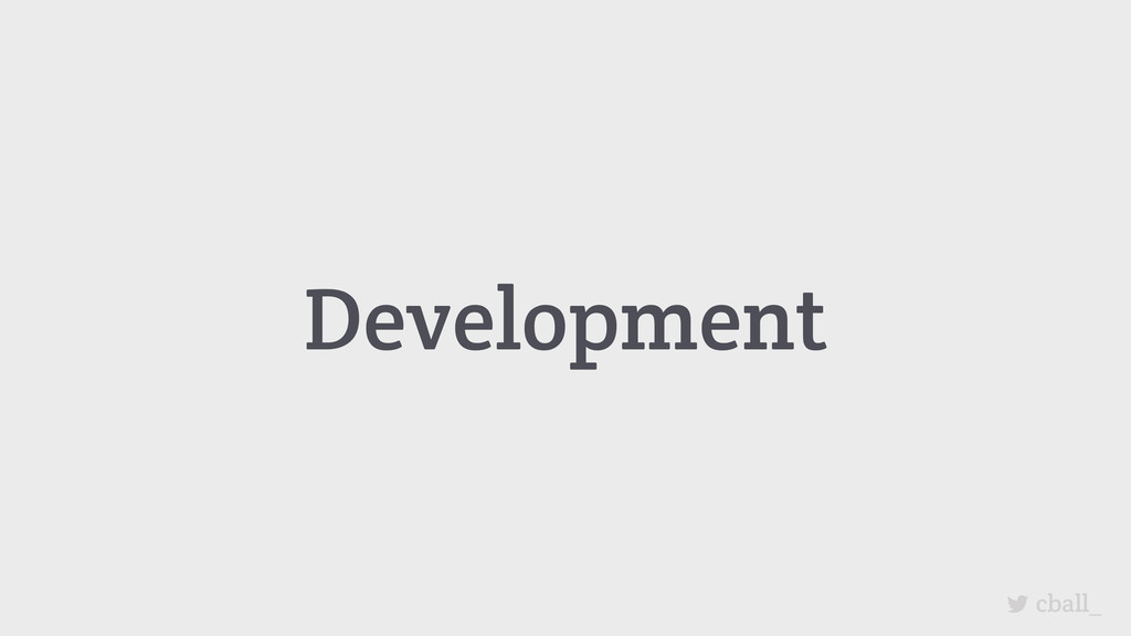Development cball_