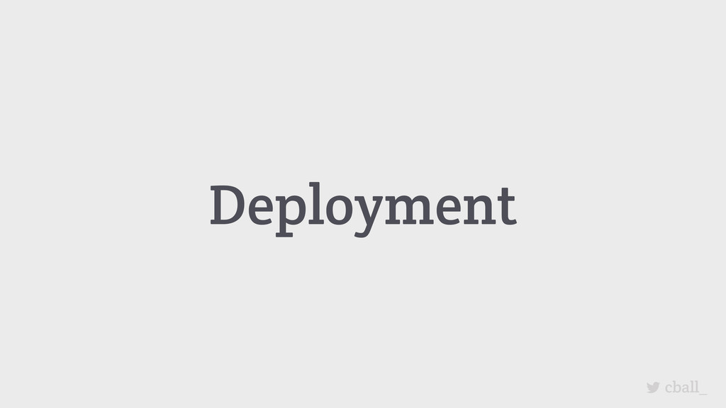 Deployment cball_