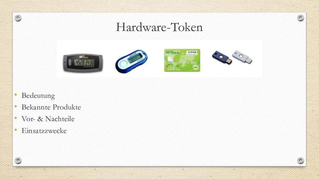 Hardware-Token • Bedeutung • Bekannte Produkte ...