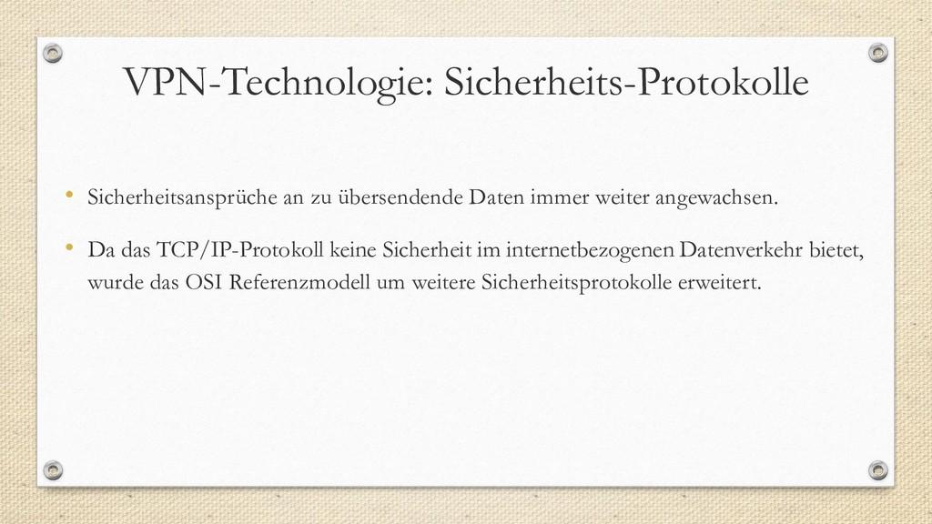 VPN-Technologie: Sicherheits-Protokolle • Siche...