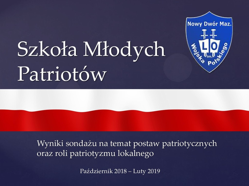 { Szkoła Młodych Patriotów Wyniki sondażu na te...