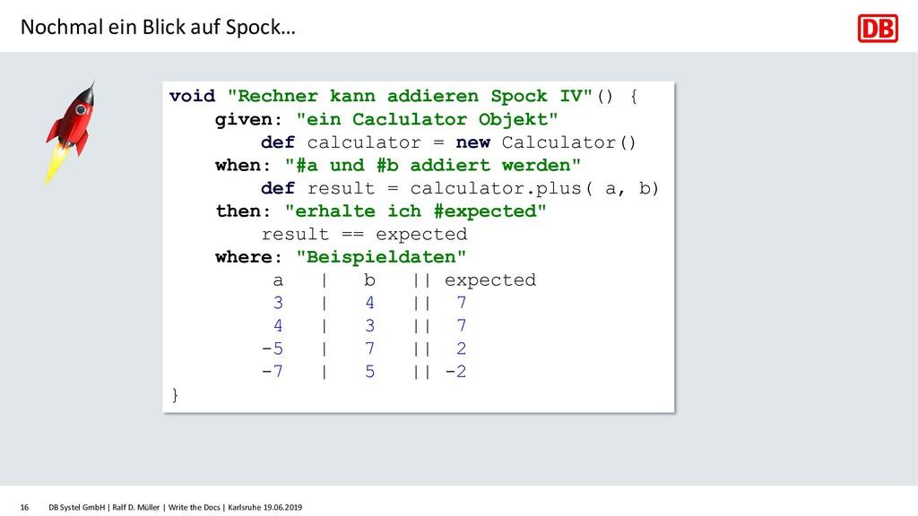 Nochmal ein Blick auf Spock… DB Systel GmbH   R...