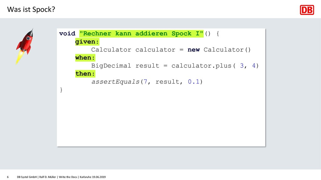 Was ist Spock? DB Systel GmbH   Ralf D. Müller ...