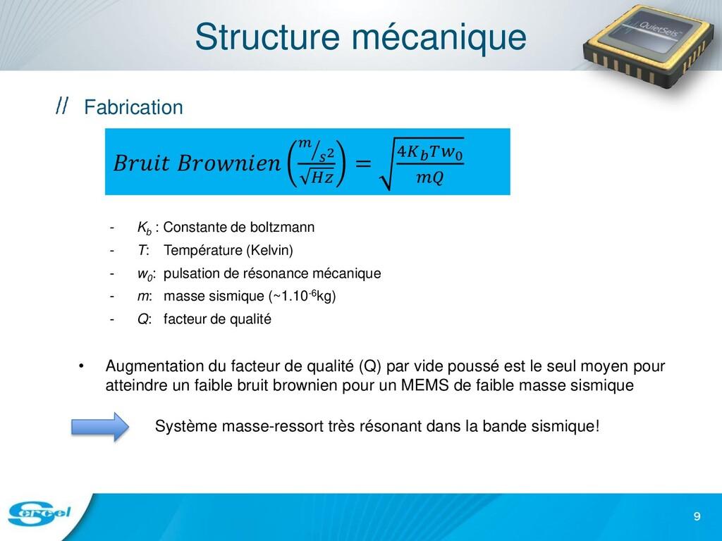 Structure mécanique Fabrication - Kb : Constant...