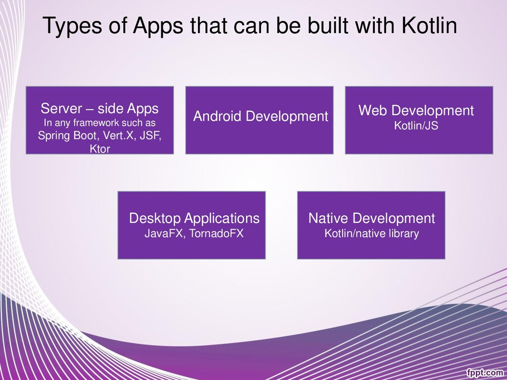 Types of Apps that can be built with Kotlin Ser...