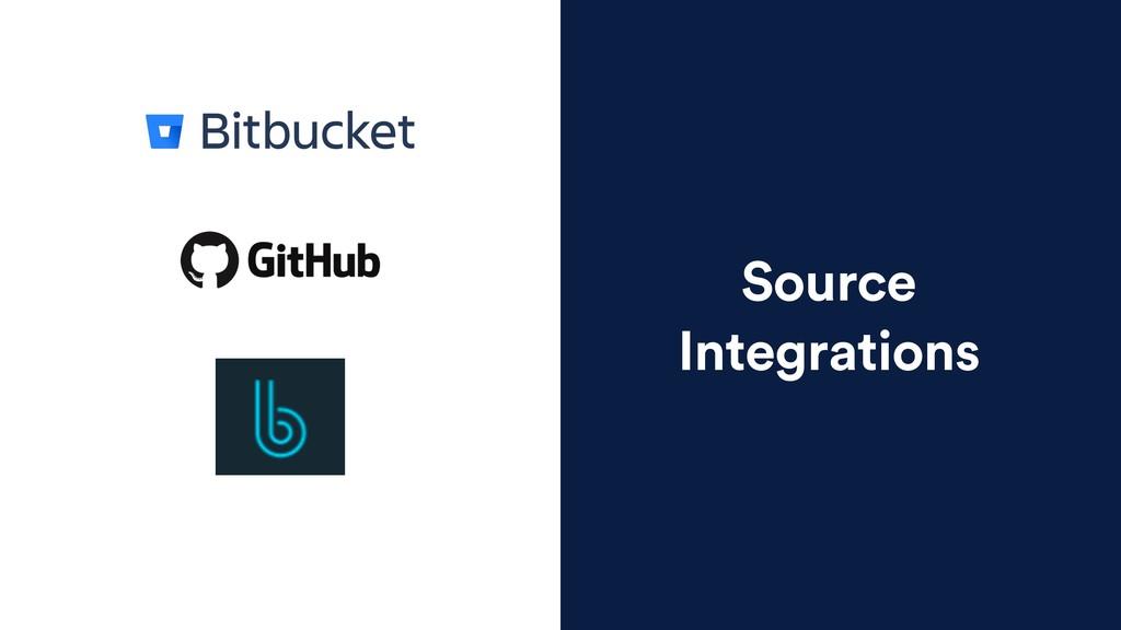 Source Integrations