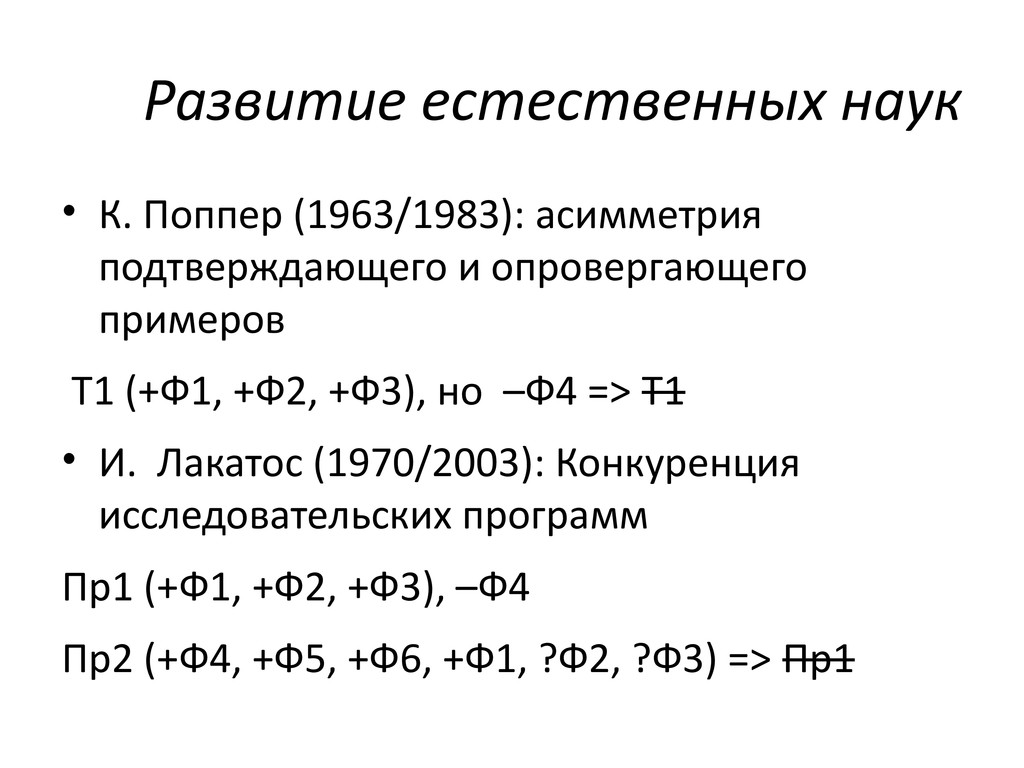 Развитие естественных наук • К. Поппер (1963/19...