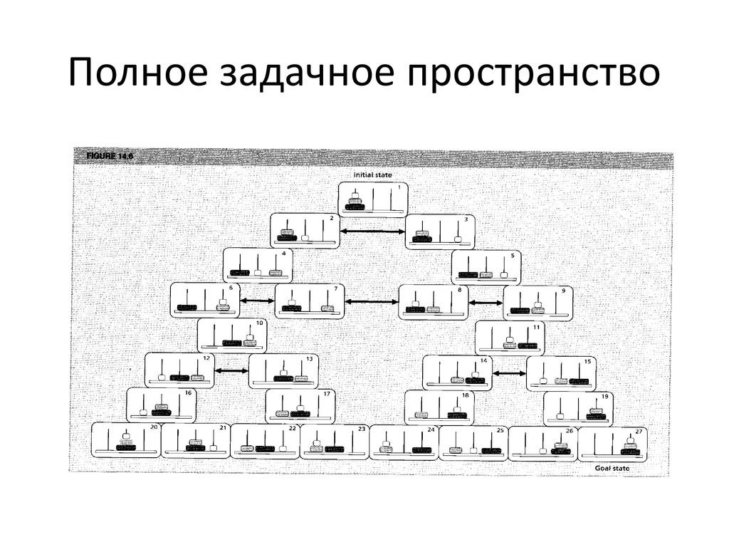 Полное задачное пространство