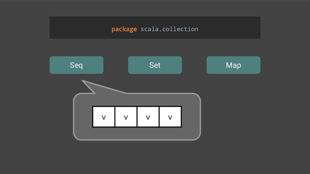 Seq Set Map package scala.collection v v v v