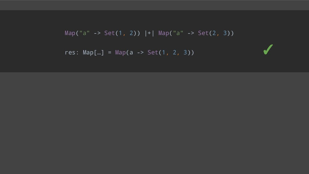 "Map(""a"" -> Set(1, 2))  +  Map(""a"" -> Set(2, 3))..."