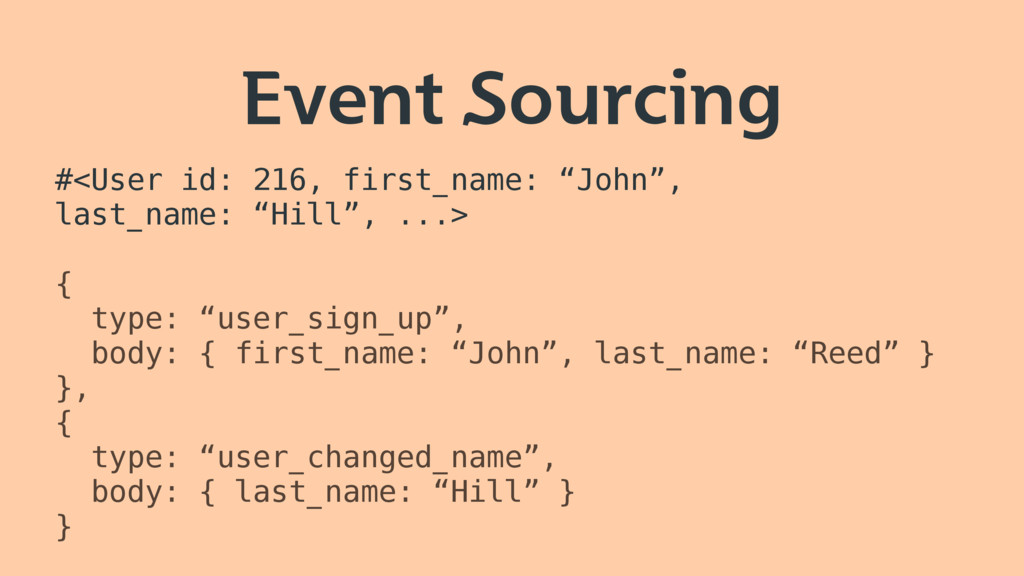 """Event Sourcing #<User id: 216, first_name: """"Joh..."""