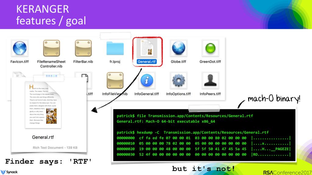 KERANGER features / goal patrick$ file Transmis...