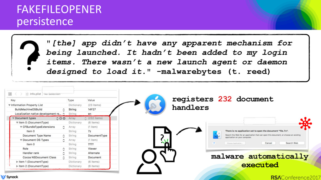 "FAKEFILEOPENER persistence ""[the] app didn't ha..."