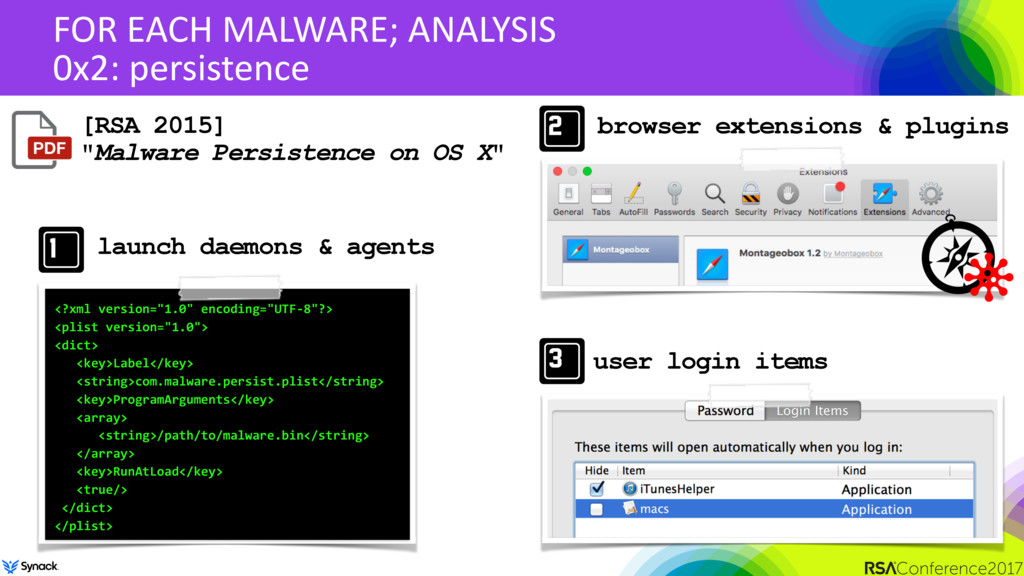 FOR EACH MALWARE; ANALYSIS 0x2: persistence [RS...