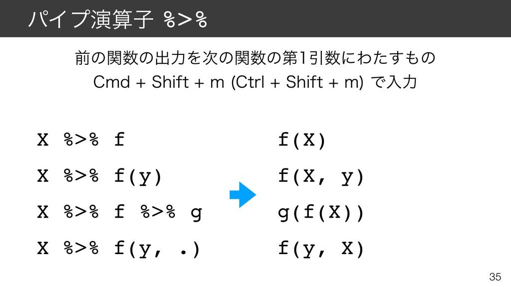 ύΠϓԋࢠ%>% X %>% f X %>% f(y) X %>% f %>% g X %...