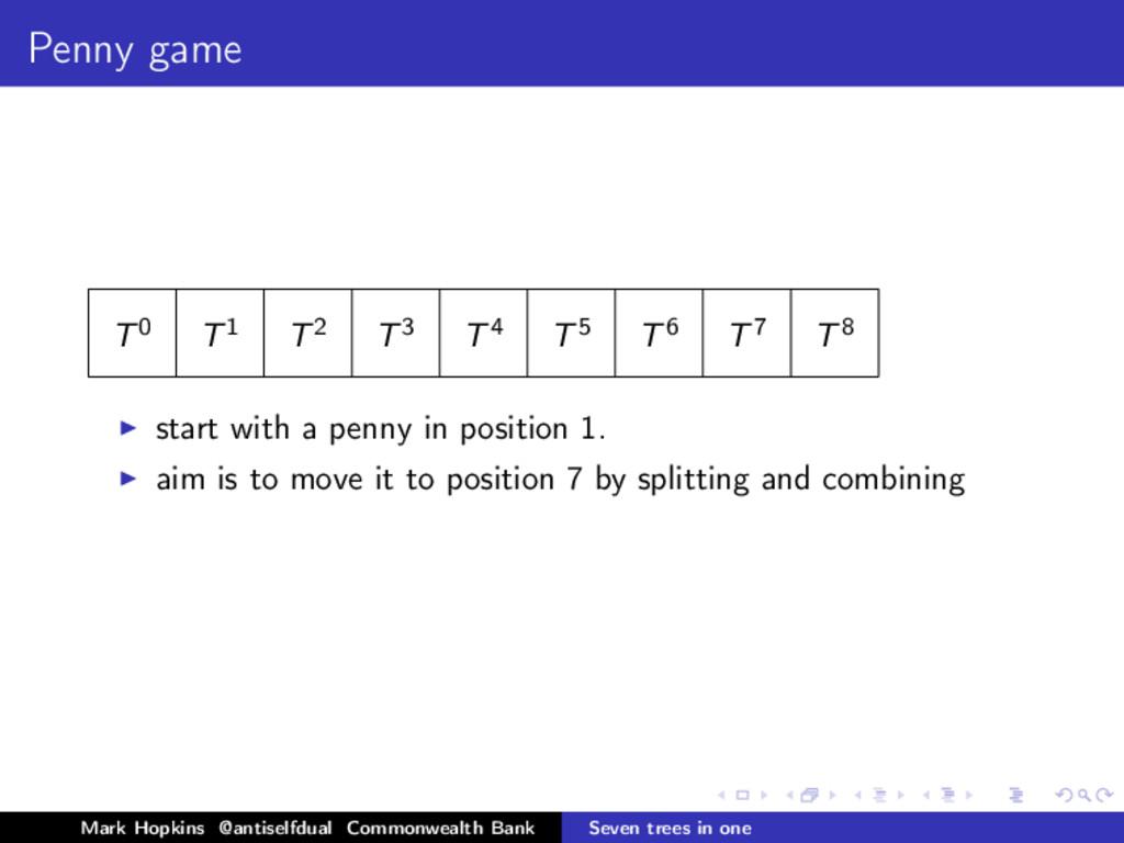 Penny game T0 T1 T2 T3 T4 T5 T6 T7 T8 start wit...